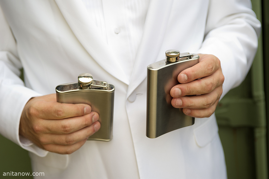 Wedding with flask