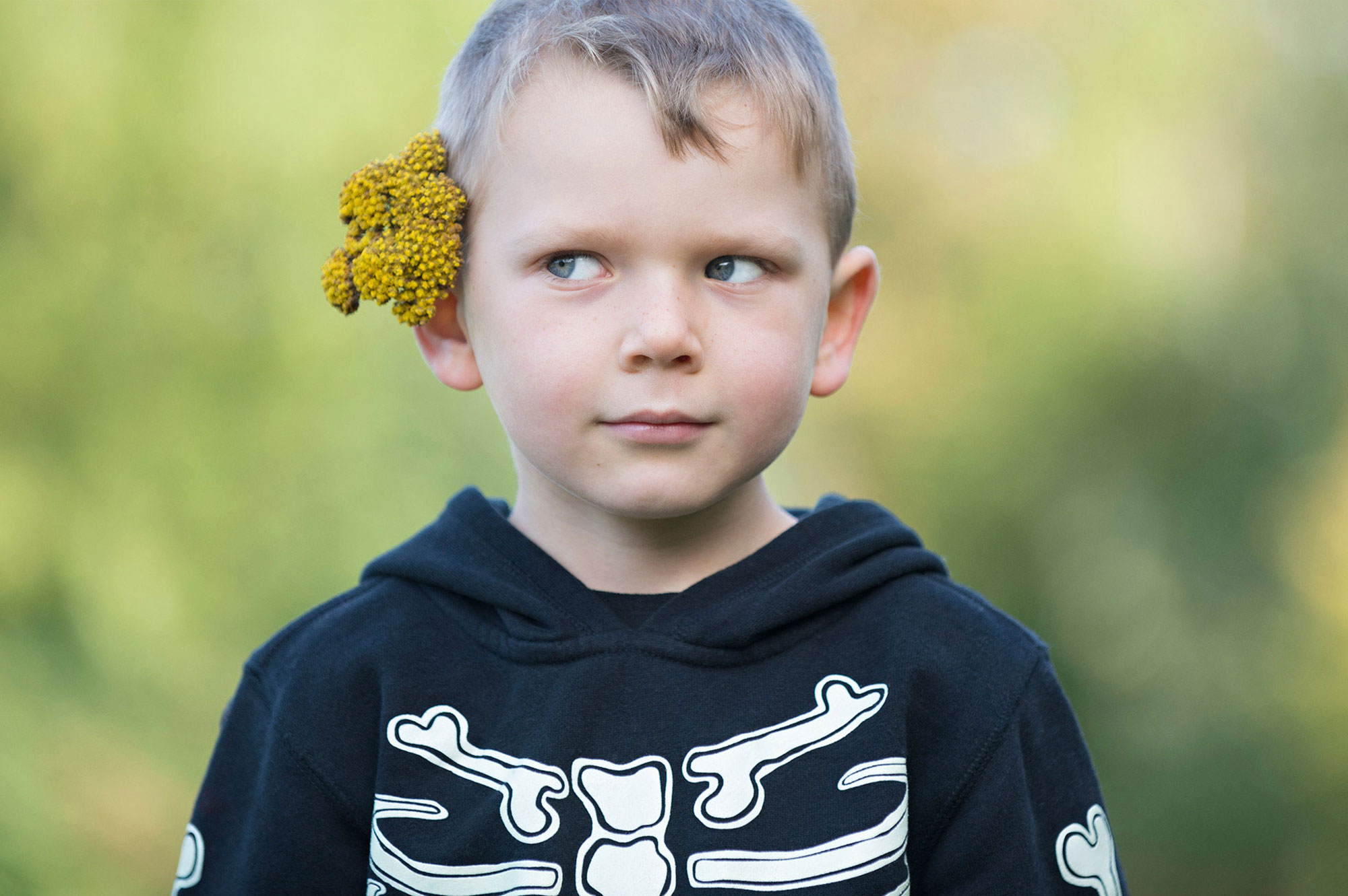 Children's Photography. Child's sense of humor captured during Seattle's Autumn time